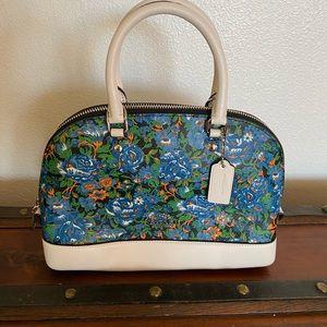 Mini COACH floral satchel